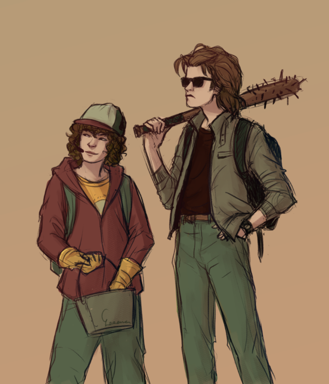 Steve And Dustin They Were An Amazing Duo Stranger Things Dustin Stranger Things Fanart Stranger Things Art