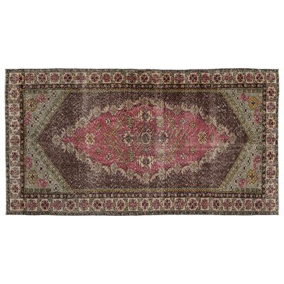"Bespoky Vintage Rugs One-of-a-Kind Oriental Hand-Knotted 5'1"" x 9'7"" Brown Area Rug 