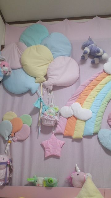 Puffy Rainbow Wall Hangings Soo 80s Baby Nursery