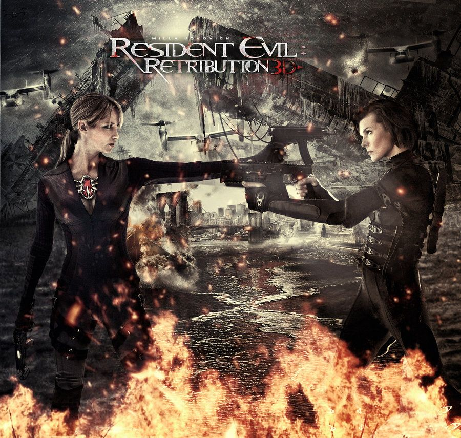retribution in possibility of evil At the end of the resident evil retribution movie, we see wesker gathered what is left of humanity to fight the undead but at the begining of the next movie, the battle is over and we only see alice is alive.