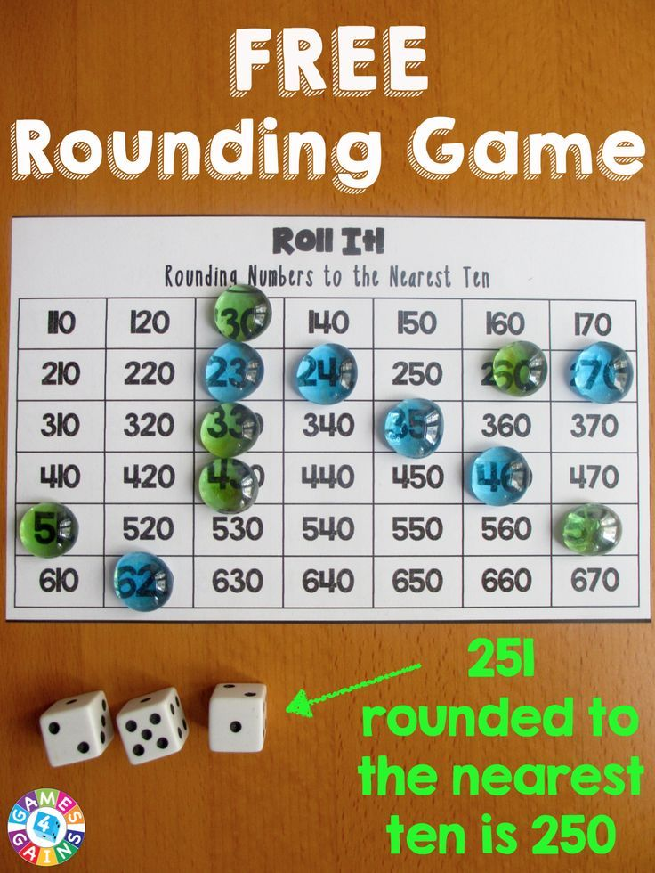 Roll It! Rounding Game Rounding games, Fourth grade math