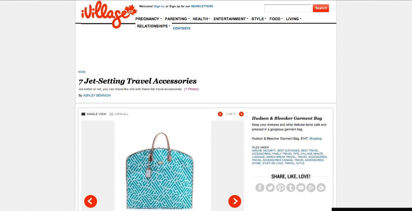 Hudson Bleecker Labyrinth Turquoise Wayfarer Garment Bag