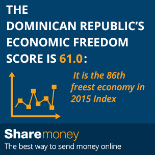 Send Money To The Dominican Republic Dr Did You Know S Economic Freedom Score Is 61 0 It 86th Freest Economy In 2017