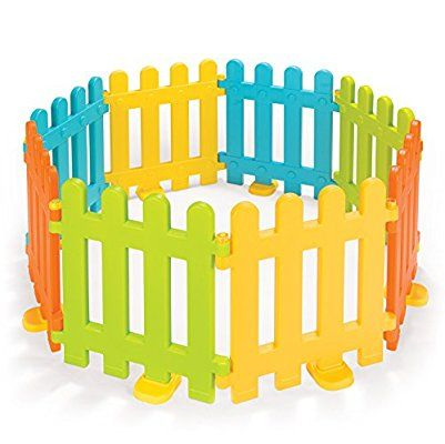 Vinsani 8 Colourful Interlocking Plastic Fence Play Panels For Kids 6 Months And Over Mickey Mouse Bedroom Kids Toys Toys