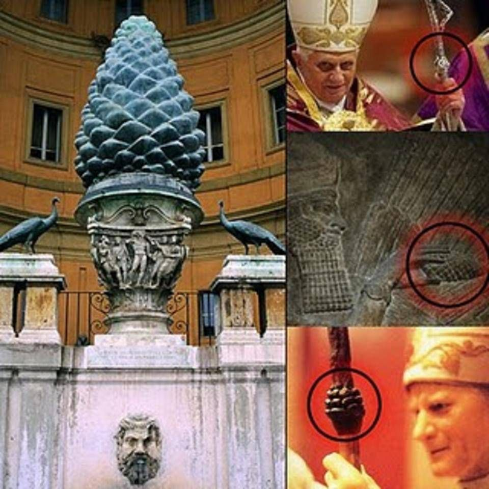 Resultado de imagen de simbologia  anunnaki vaticano