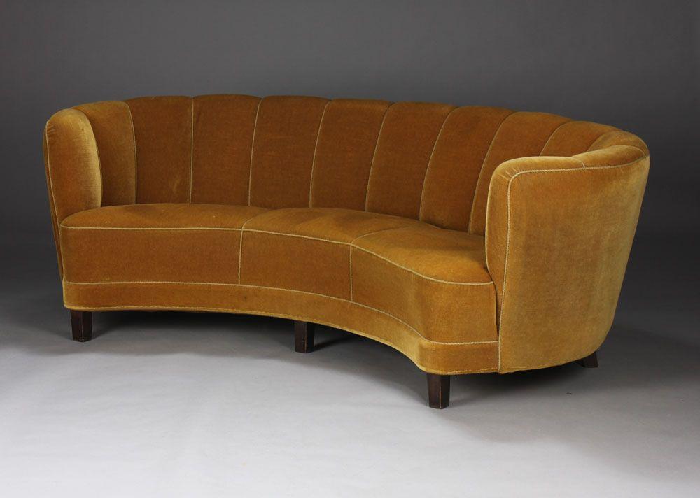 Banana shaped sofa circa 1940s home interior design for Ever design furniture