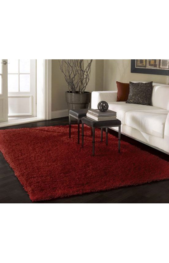 Venice Shaggy Gray Rug Home Decor White Carpet Living Room Red Rugs #red #living #room #area #rugs