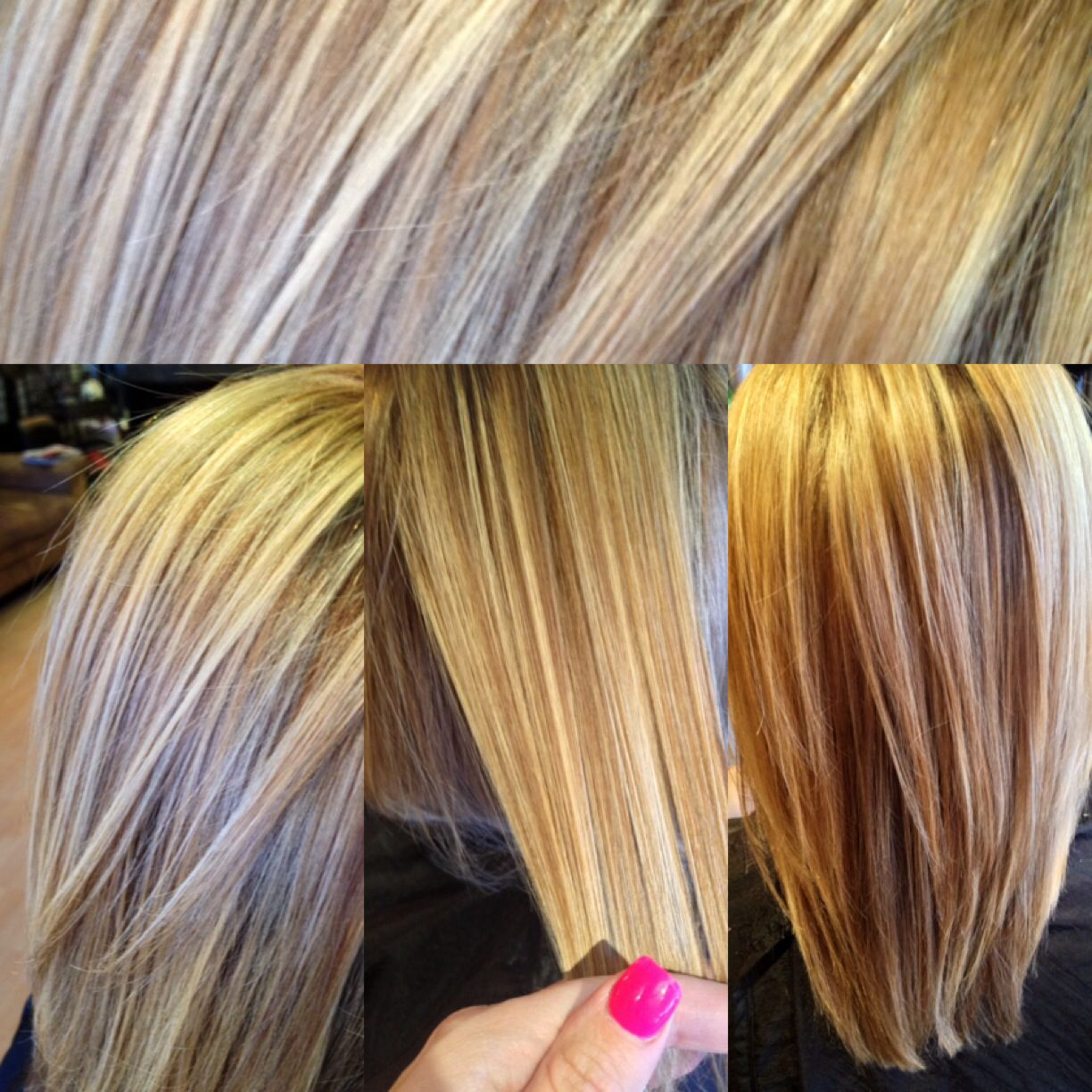 Balayage Highlights Multidimensional Blonde Hair Amber Peters At