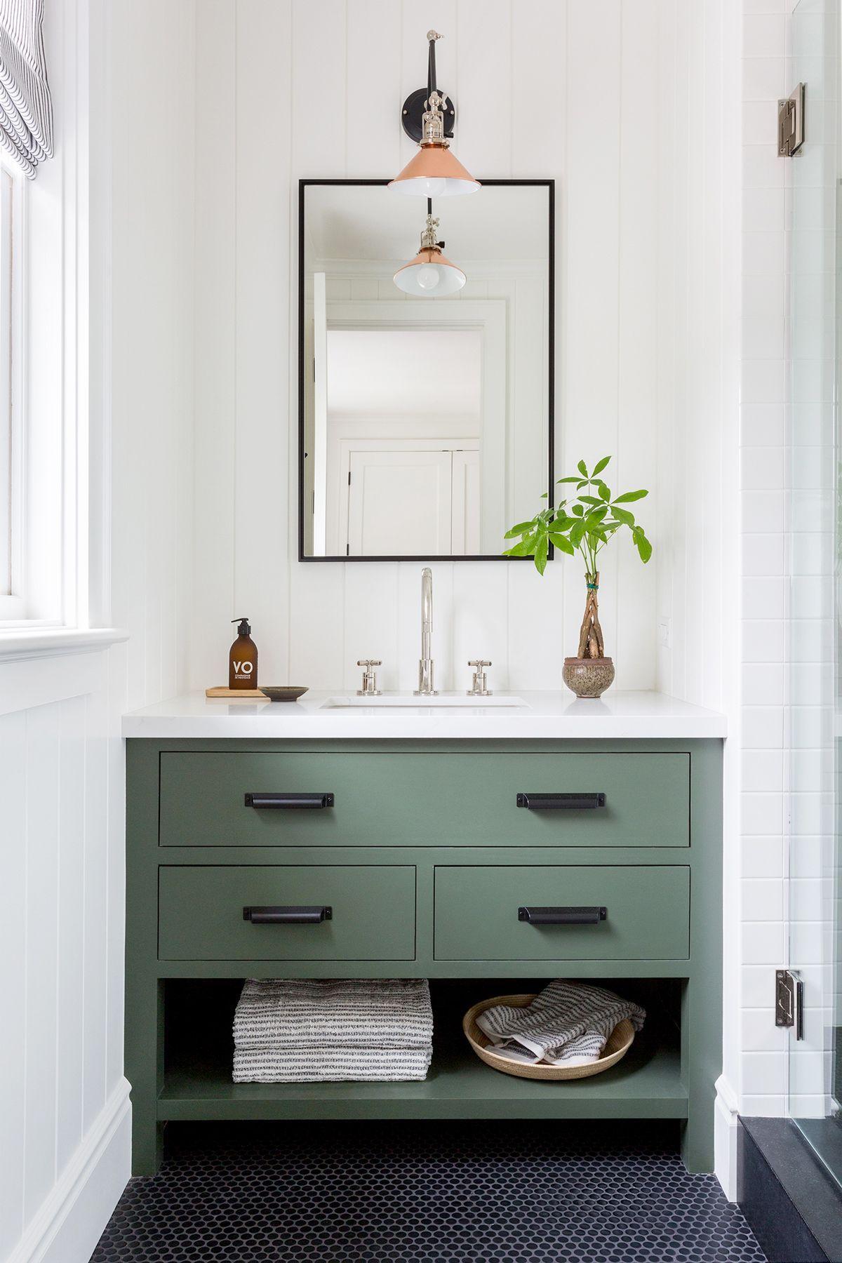 Use Bins And Baskets Simple Bathroom Designs Simple Bathroom Green Bathroom