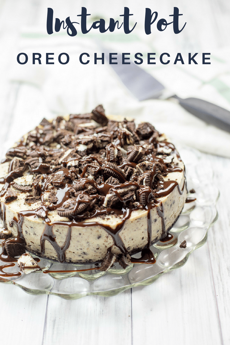 Pot Oreo Cheesecake This decadent Oreo cheesecake is made in an Instant Pot. Becuase it's made in the pressure cooker, it's a foolproof recipe resulting in cheesecake that's cooked to perfection every time.  This decadent Oreo cheesecake is made in an Instant Pot. Becuase it's made in the pressure cooker, it's a foolproof ...