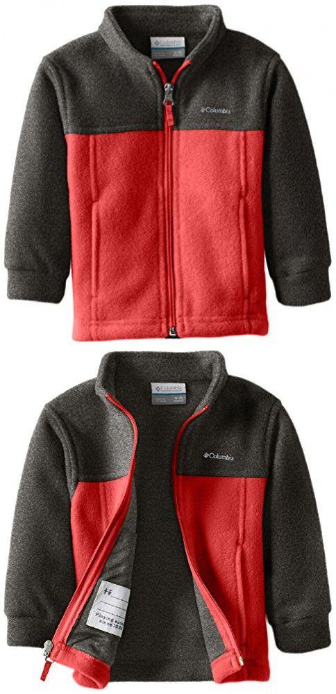 best service 346b3 3754e Columbia Baby Boys  Steens Mt II Fleece, Mountain Red Charcoal Heather, 12