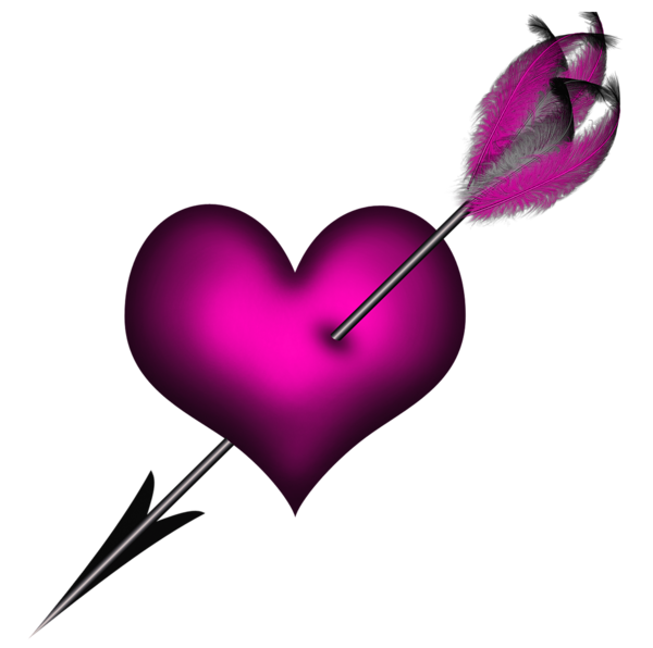 Transparent Pink Heart With Arrow Png Clipart Heart With Arrow Colorful Heart Diamond Paint