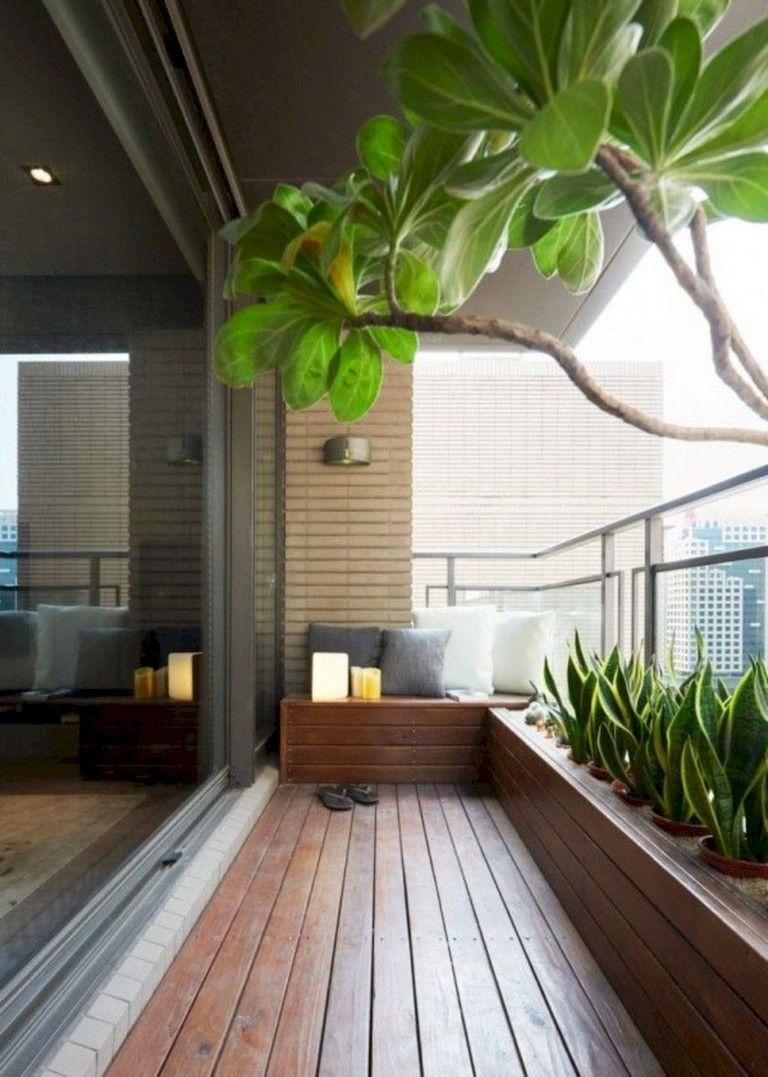 19+ Comfortable Apartment Balcony Decorating Ideas  Terrace decor