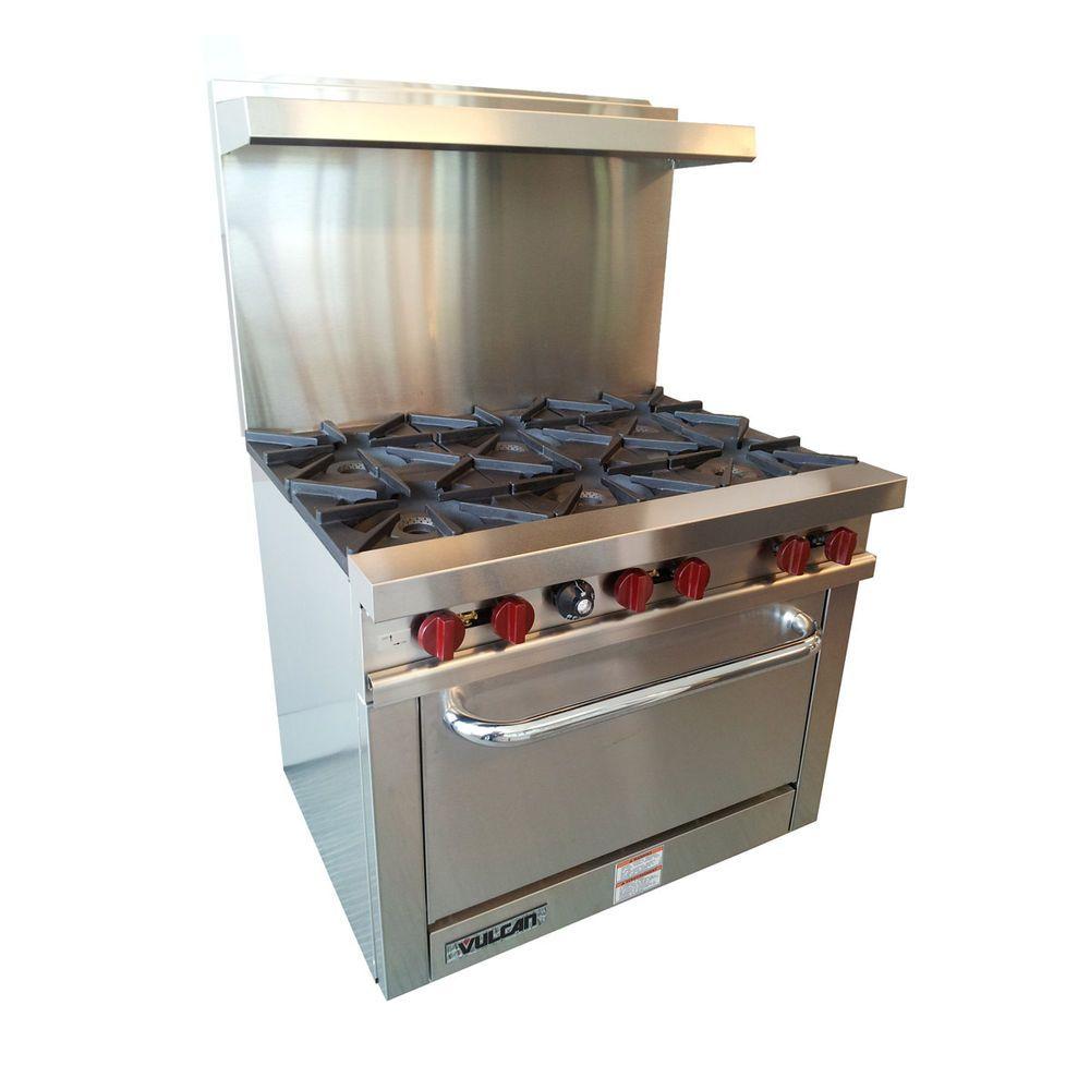 New Commercial Vulcan V36 Gas Range 6 Burners 1 Oven
