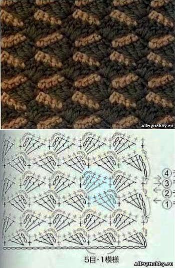Крючок - Многоцветное вязание | crochet | Pinterest | Häkelmuster ...