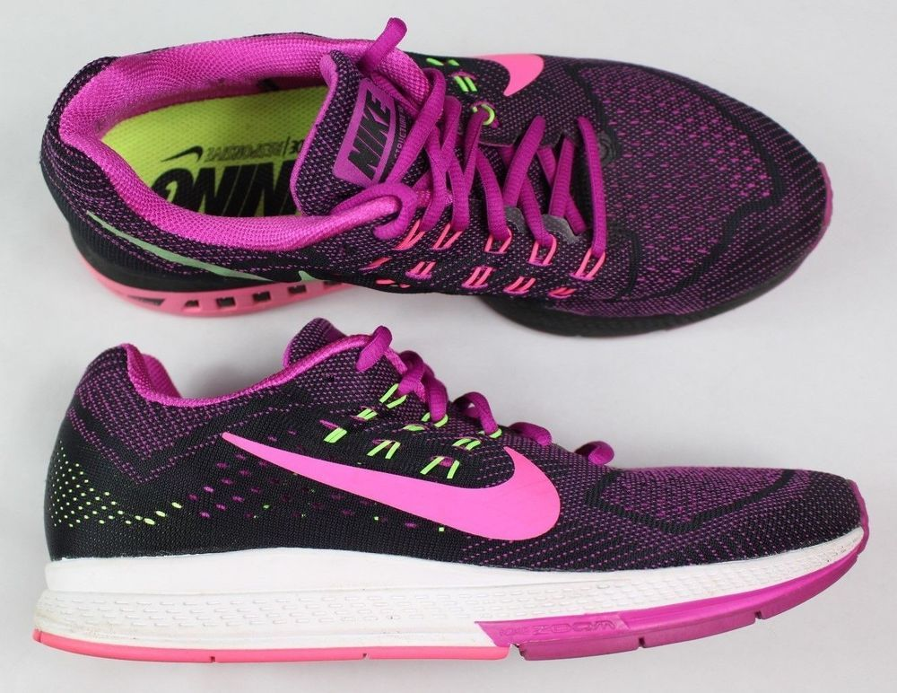 separation shoes 34765 6c0ca ... uk nike zoom structure 18 womens size 9.5 runnig shoe violet pink neon  green euc fashion