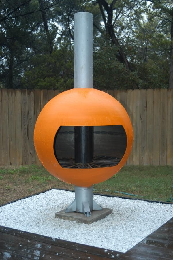 Westlake Modern Chiminea Yeah That S Hemi Orange Outdoor Fireplace Outdoor Modern Style Homes