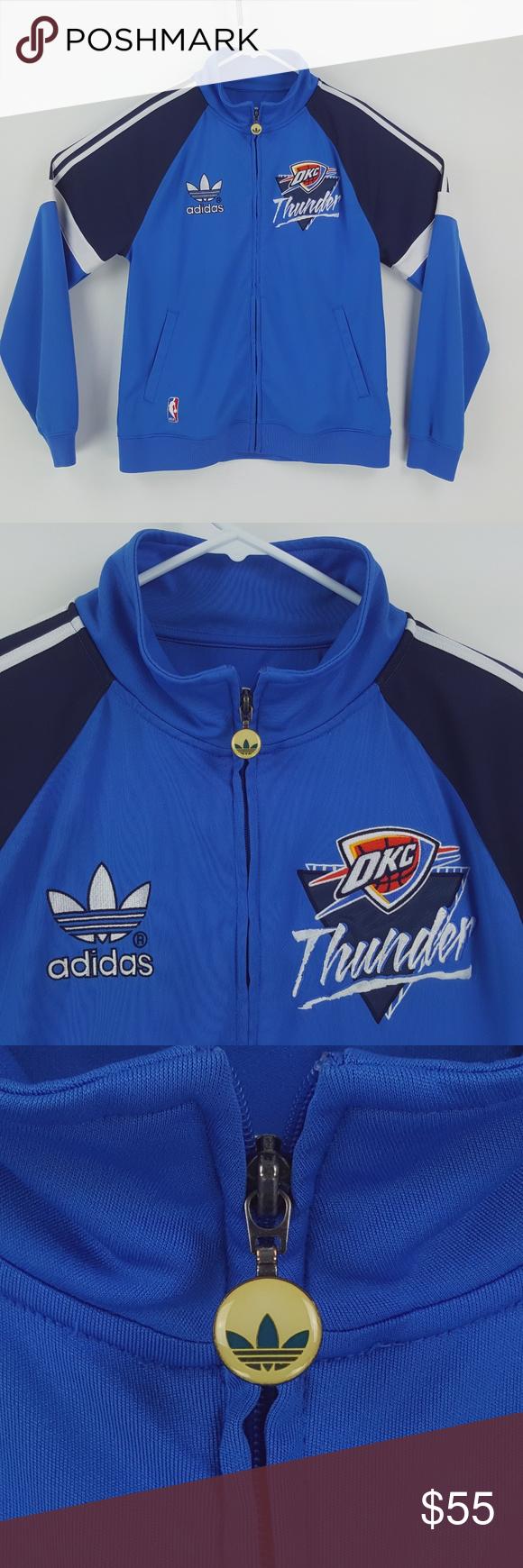 Adidas NBA OKC Thunder Trefoil Warm Up Jacket FS40 Adidas