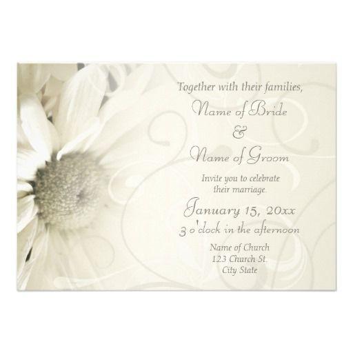 beige floral elegant wedding invitation cards - Elegant Wedding Invites Coupon