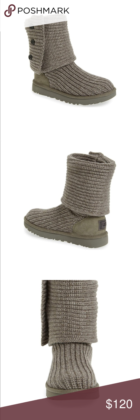 84e45f3bf07 Ugg Classic Cardy 1016555 grey new Authentic Ugg Classic Cardy ...