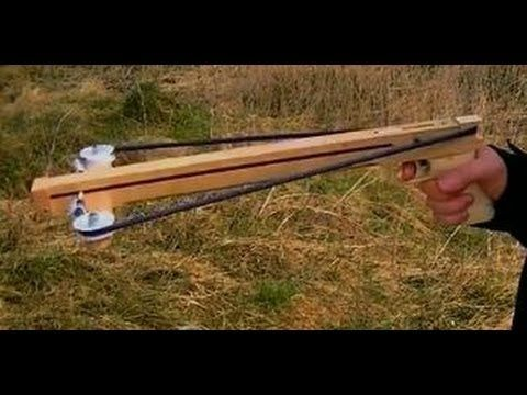 Ball shooting Slingshot Crossbow Pistol 2 - YouTube | to