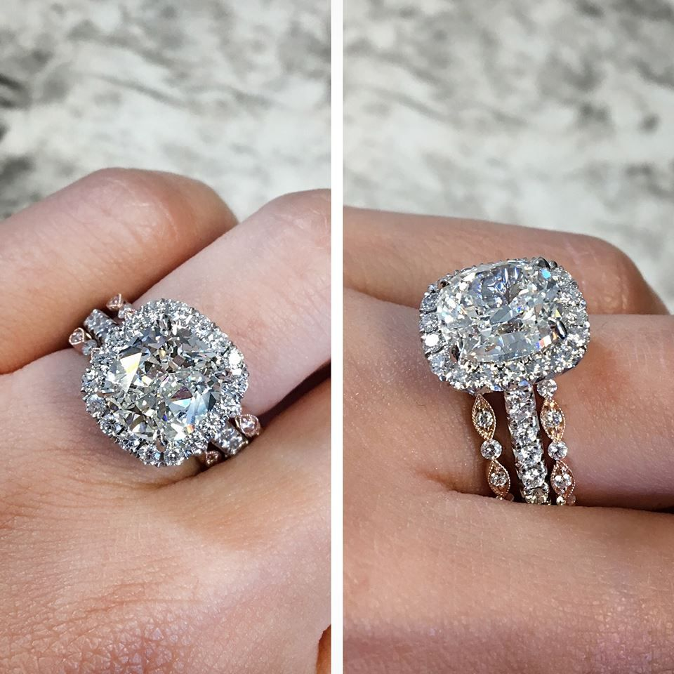 How To Make Your Engagement Ring Look 5 Times More Expensive Expensive Engagement Rings Beautiful Wedding Rings Big Engagement Rings
