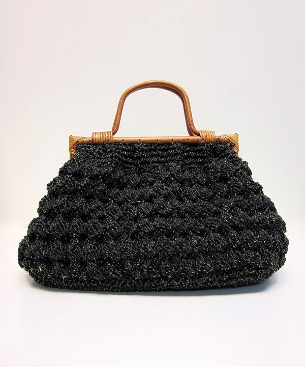 This Boardwalk Style Black Crocheted Straw Tote by Boardwalk Style is perfect! #zulilyfinds