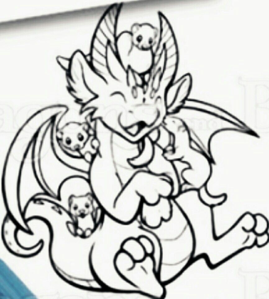dragon and beasties image by Brandella Disney coloring pages