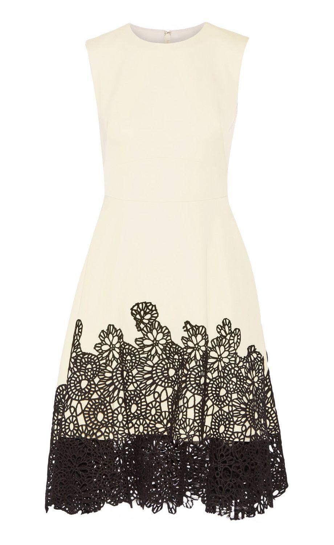 lela rose lace-paneled dress   dresses & skirts   Pinterest ...