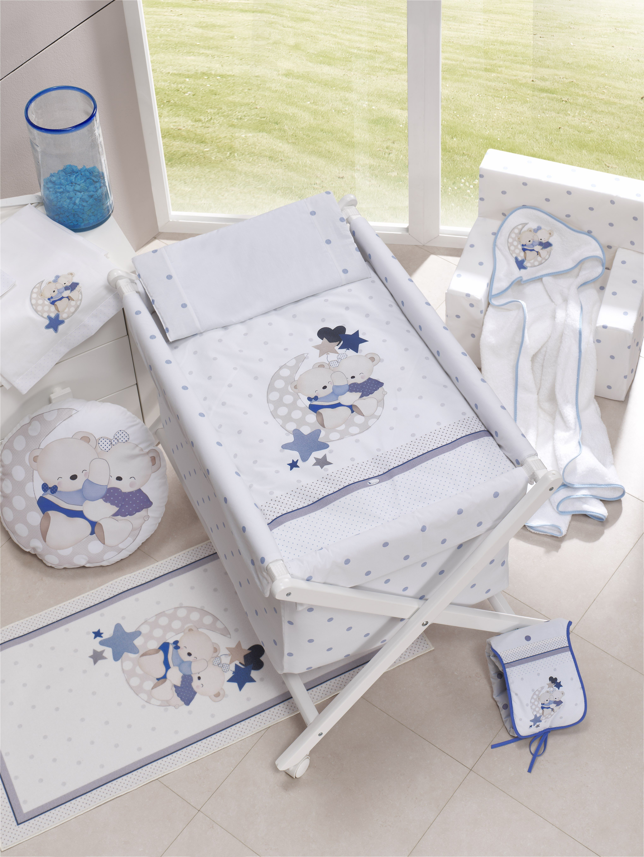 Minicuna Friends Baby Azul con Textil