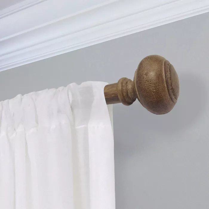 Curtain Rod Faux Wood Threshold Wood Curtain Rods Wood