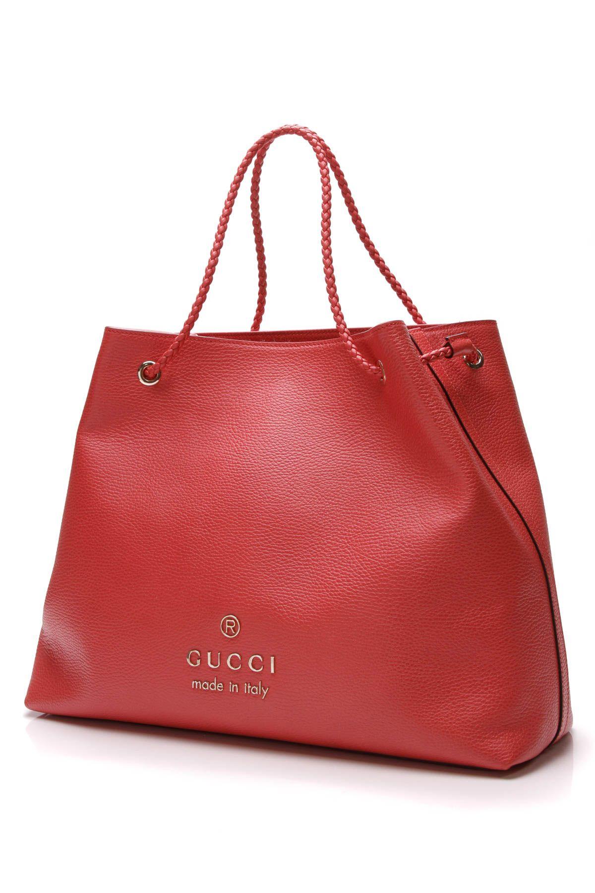 ebf855109510 Gucci Gifford Braided Large Coral Tote Bag   Gucci Glam   Bags ...