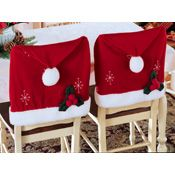 Santa Hat Christmas Chair Covers - Set of 2