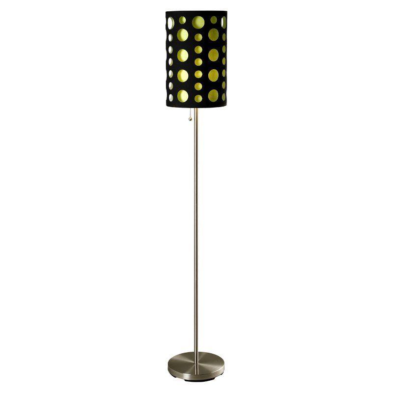 Ore International 9300f Modern Retro Floor Lamp 9300f Bk Gn Retro Floor Lamps Modern Retro