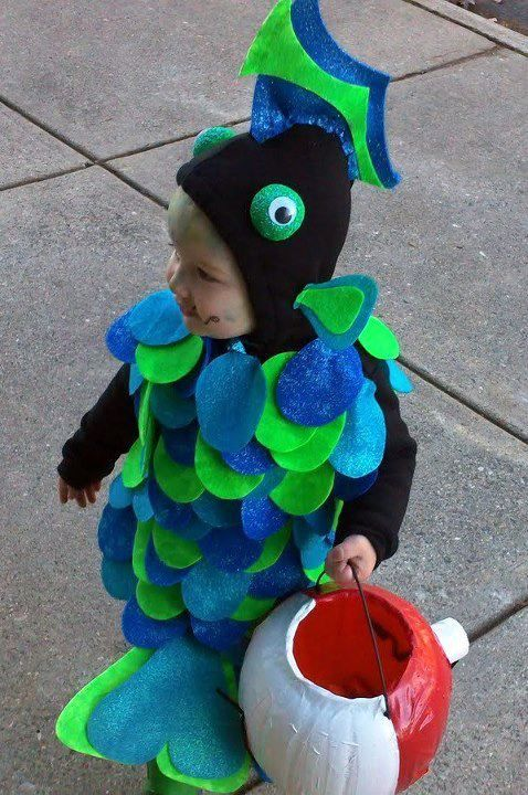 Sold Diy Fish Costume So Easy To Make Halloween Pinterest