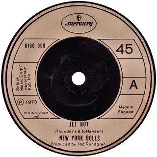 "New York Dolls 7"" UK Import EP! Authentic Vintage 1977! New York Dolls  Jet Boy  2 Songs Mercury 6160 008 Near Mint"