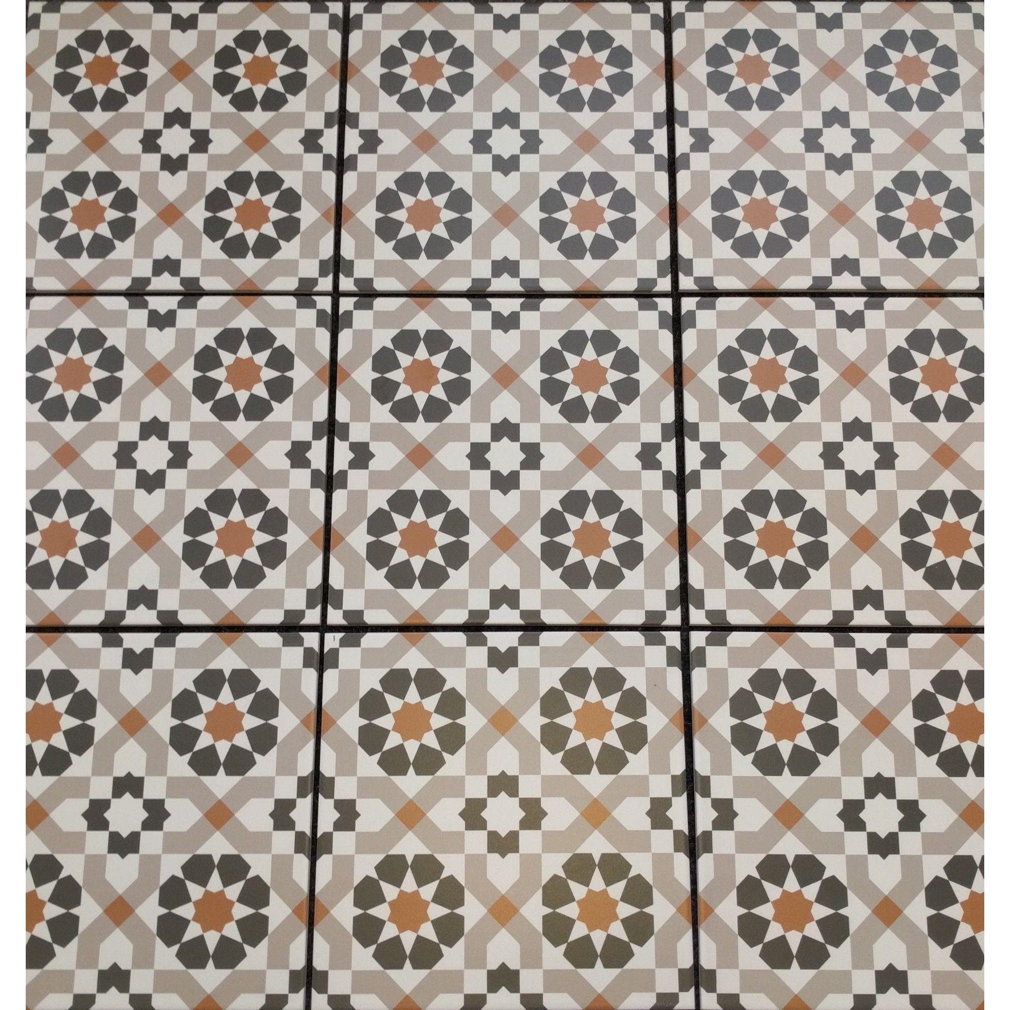 Marrakech Catarina Copper 16 Pattern Floor Tile Patterned Floor Tiles Floor Patterns Geometric Tiles
