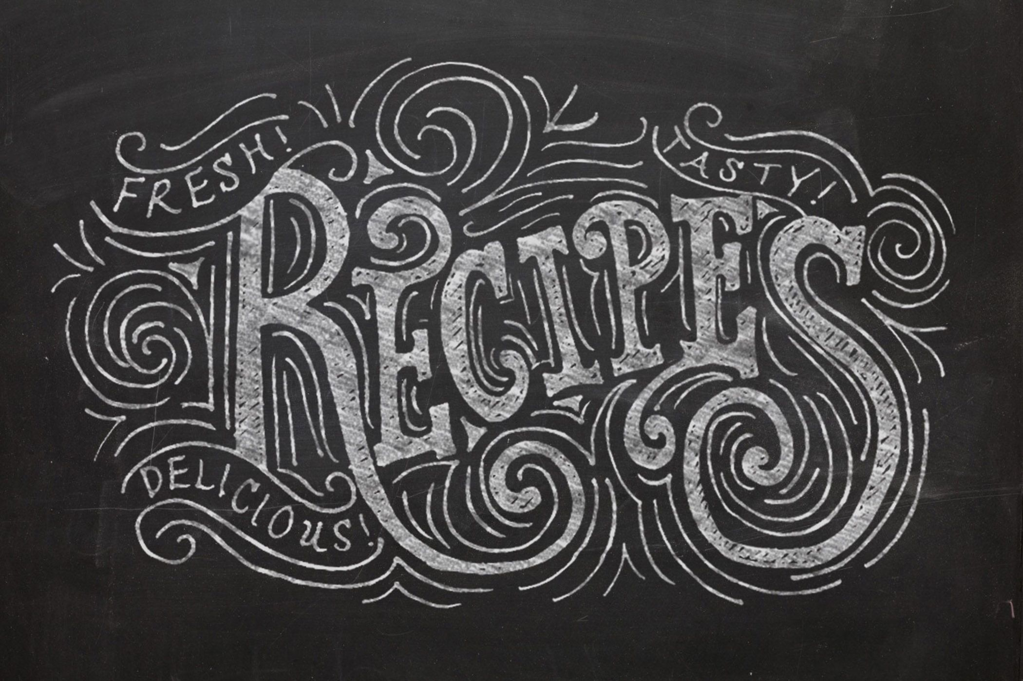 Love The Flourishing In This Chalk Lettering Piece Creates A