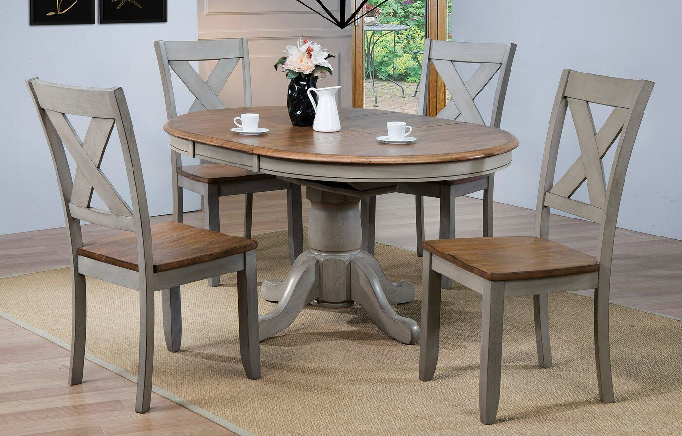 Wonderly 5 Piece Extendable Dining Set Round Extendable Dining Table Dining Table Makeover Solid Wood Dining Table