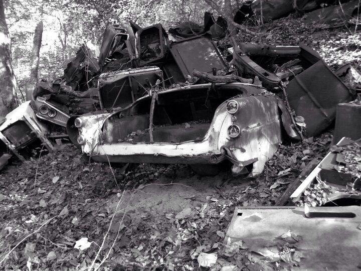 Abandoned junkyard in montezuma ga artistic photography