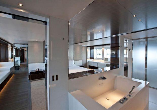 bathroom, satori yacht by french architect remi tessier   yacht, Innenarchitektur ideen