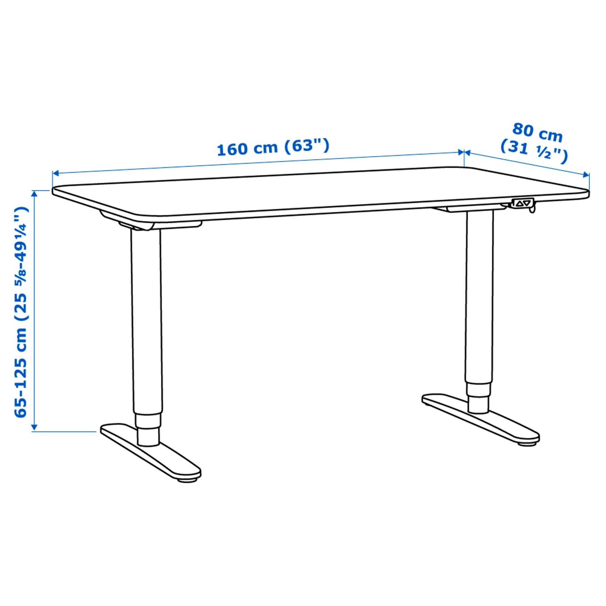 Bekant Scrivania Ikea.Bekant Scrivania Regolabile In Altezza Bianco Detail In