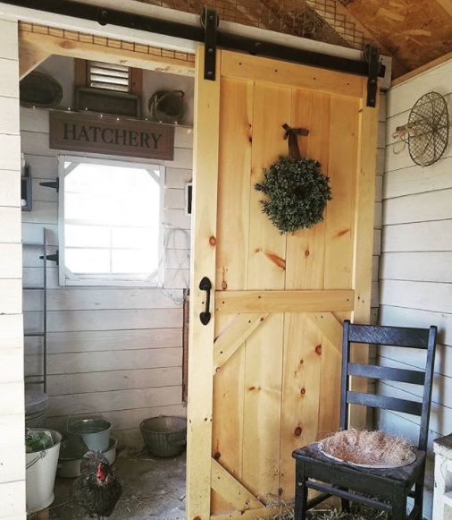 How And Why To Install A Sliding Barn Door In Your Chicken Coop Fresh Eggs Daily Chicken Coop Barn Door Chicken Shed