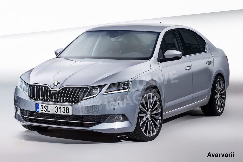 2017 Skoda Octavia Facelift Rendering Automobile Car Vehicles