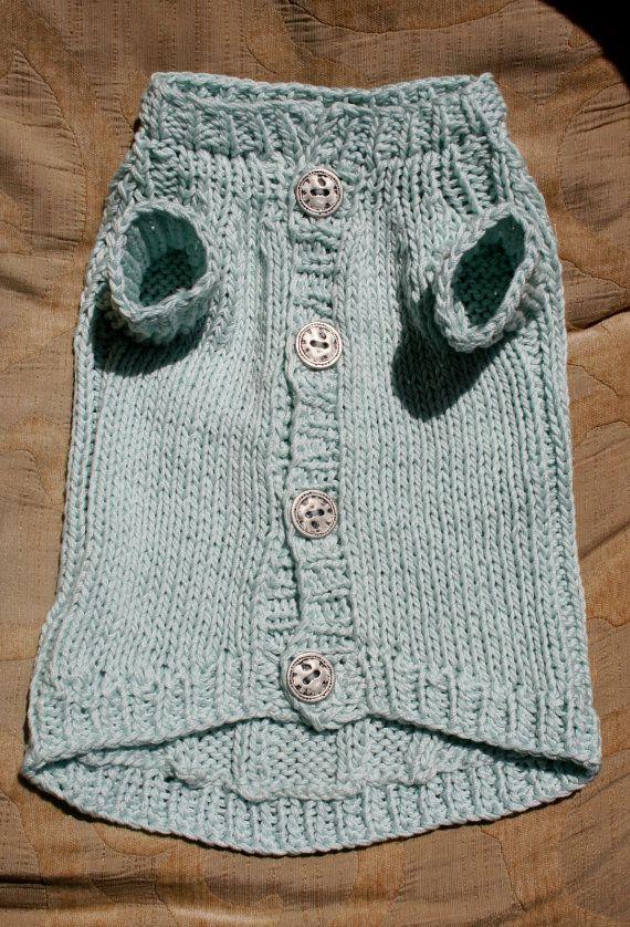 Dog Clothes Knitted Dog Sweater Cotton Dog Sweater Handmade Dog