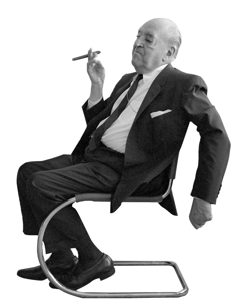 cutout people famous architects ludwig mies van der rohe architecture the masters. Black Bedroom Furniture Sets. Home Design Ideas