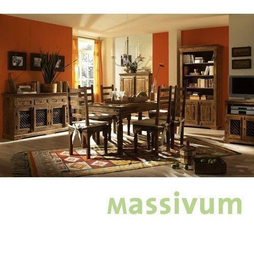 Tisch 150x90 Mit 6 Stühlen Massiv Palisander Möbel Esszimmer Neu MERLIN |  EBay