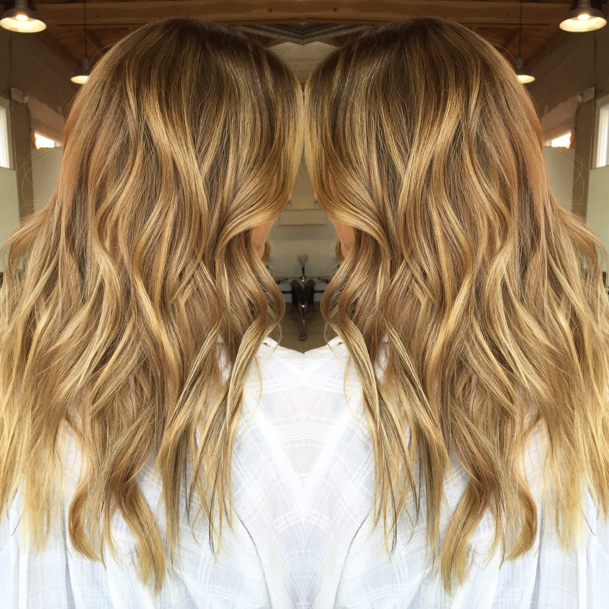 Honey Carmel Toned Blonde With Highlights And Lowlights By