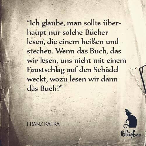 Kafka Zitat Bucher Literatur Das Literarische Zitat