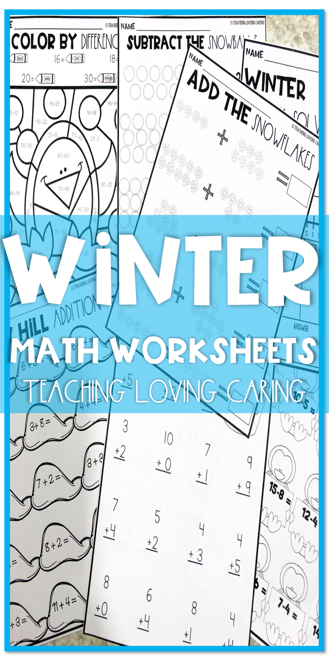 Winter Math Worksheets | Subtraction activities, Maths and Word problems